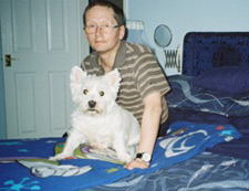 David and his Westie Benjy