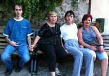 Riccardo, his Mom, Fabio and the carer