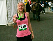 Katie raised over £750 for NA