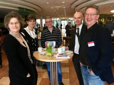 Coffee break with Ody Sibon, Lucia DeFrancheschi, Hans Jung, Andreas Hermann and Giel Bosman